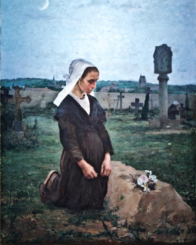 Femme modeste priant