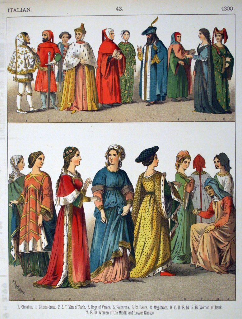 La modestie vers 1300