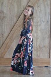 La réelle beauté des longues robes à fleurs
