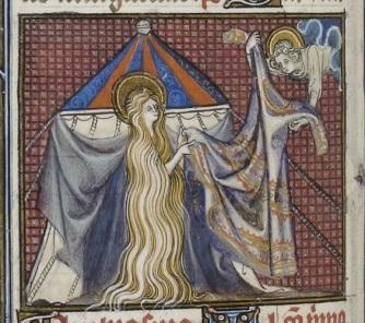 Sainte Agnès, dont Dieu fit pousser les cheveux pour préserver sa chasteté... et celle des autres.