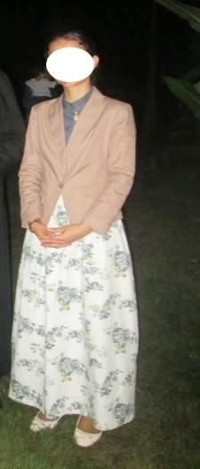Vêtements modestes d'une jeune brésilienne catholique